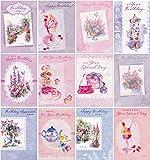 12 Elegant Watercolour Design Birthday Cards