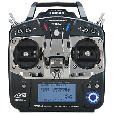 Futaba 10JA 10-Channel 2.4GHz Mode 2 Air T-FHSS Computer Radio Transmitter with R3008SB Receiver: Toys & Games
