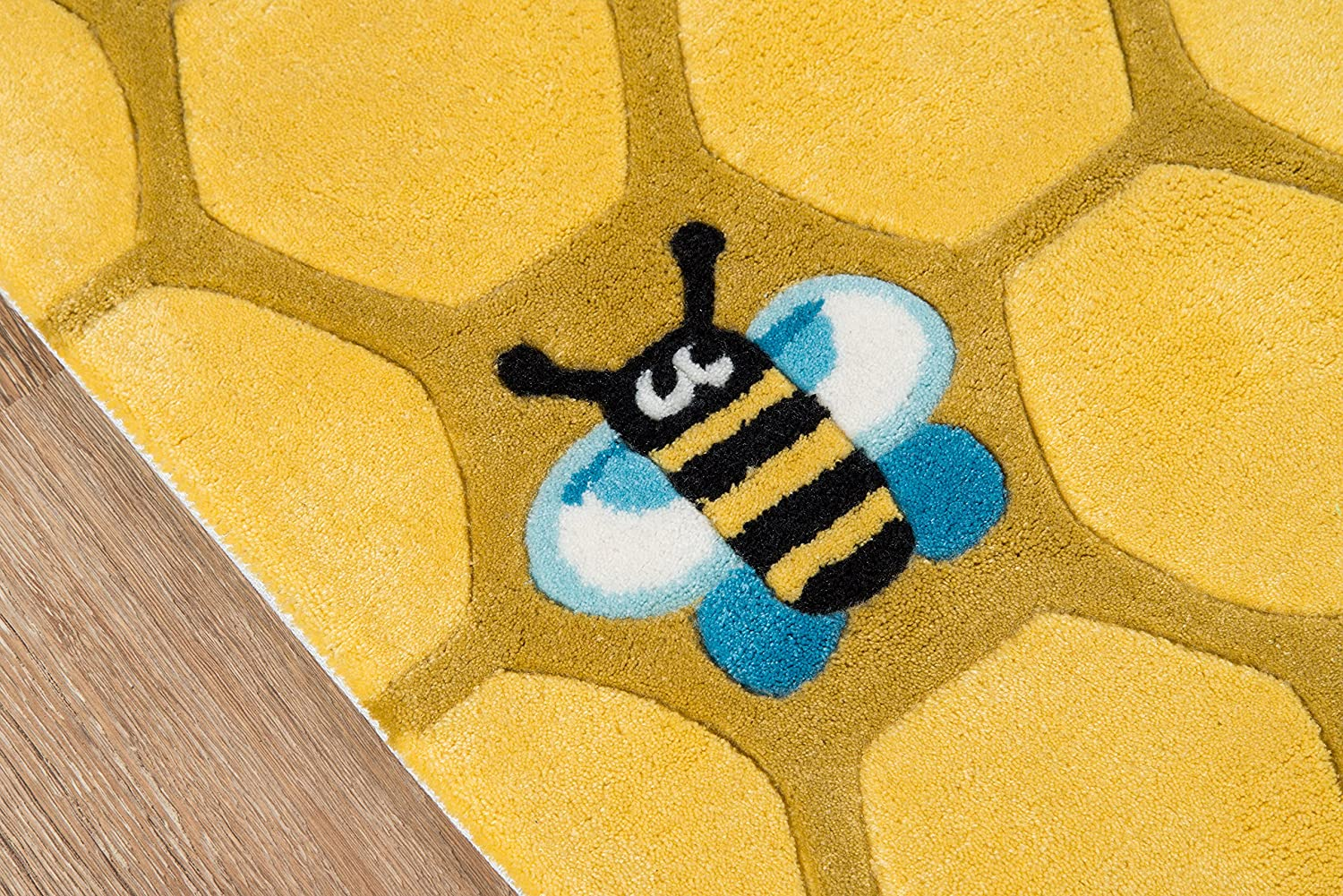 Honeycomb Yellow 3/' x 5/' Inc DROPSHIP Kids Themed Hand Carved /& Tufted Area Rug Momeni Rugs LMOJULMJ15HCG3050 Lil Mo Whimsy Collection 3 x 5