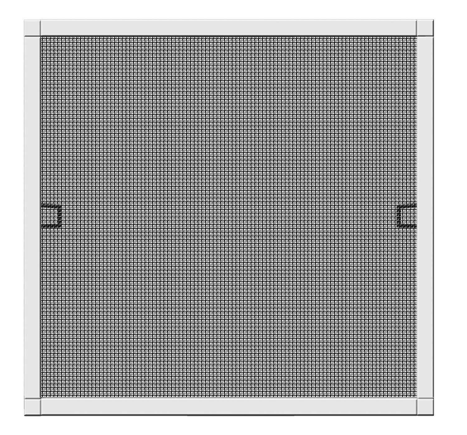 Schellenberg 70032  Plus Insect Protection Window Fly Screen with Frame  –   130  x 150  cm, White Color, 1  Piece 1 Piece