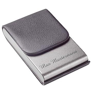 Visitenkartenbox Mit Gravur Visitenkartenetui Mit Namen Personalisiertes Kartenetui Aus Hochwertigem Kunstleder Und Magnetverschluss Aversa