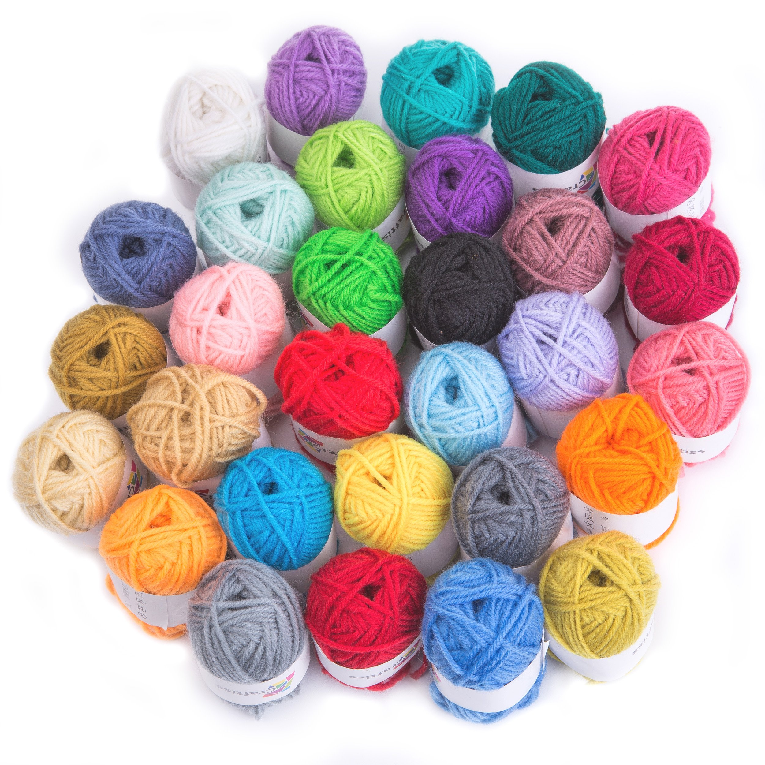 Craftiss 30 Unique Colors Acrylic Yarn Skeins ~ Bulk Yarn Kit ~ 1300 yards ~ Perfect for Any Knitting and Crochet Mini Project by Craftiss (Image #5)