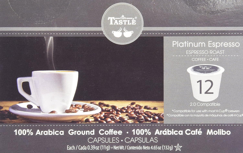 Cafe Tastlé Platinum Espresso Roast Single Serve Coffee, 12 Count (Pack of 6): Amazon.com: Grocery & Gourmet Food