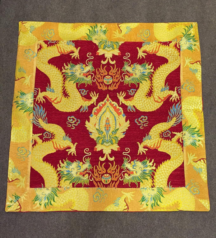Amazon.com: Tibetan buddhist dragon silk brocade thick table cloth ...