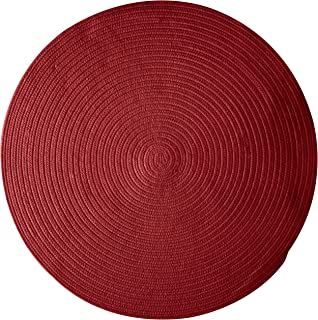 product image for Colonial Mills Bristol Polypropylene Braided Round Rug, 6-Feet, Holly Berry