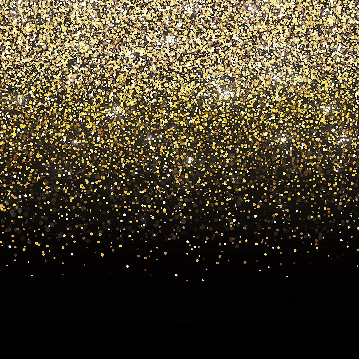 Black and Gold Photo Booth Backdrop | Perfect Party Decoration for Birthday, Bachelorette, Weddings, Graduation, Prom | Gatsby Photo Booth | Zoom Meeting Backdrop | Measures 6ft x 6ft
