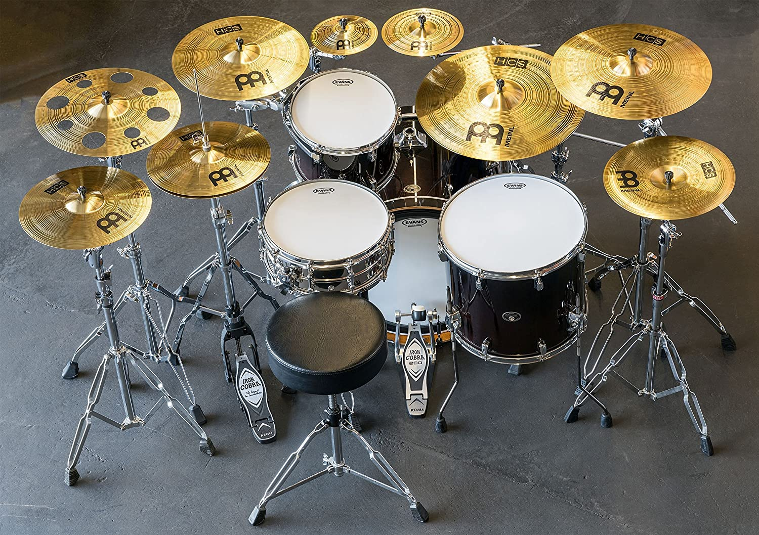 Meinl Cymbals HCS1314+10S HCS Cymbal Pack with Free Splash, Sticks and Lessons