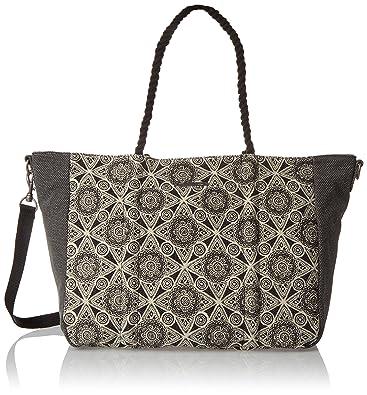 Volcom Cant Be Tamed Tote Handtasche Damen, Women's Handbag, Schwarz