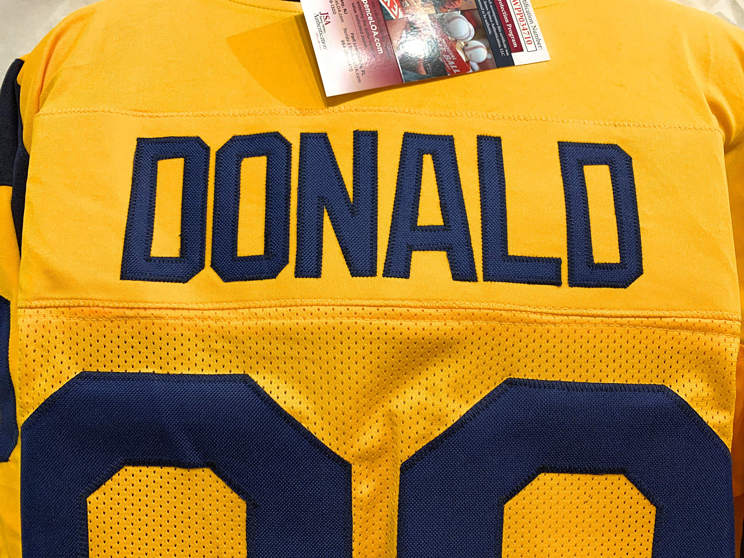 Aaron Donald Los Angeles Rams Signed Autograph Custom Color Rush Jersey JSA Witnessed Certified
