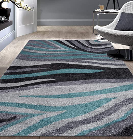 Amazon Com Rugshop Contemporary Abstract Ultra Soft Shag Area Rug
