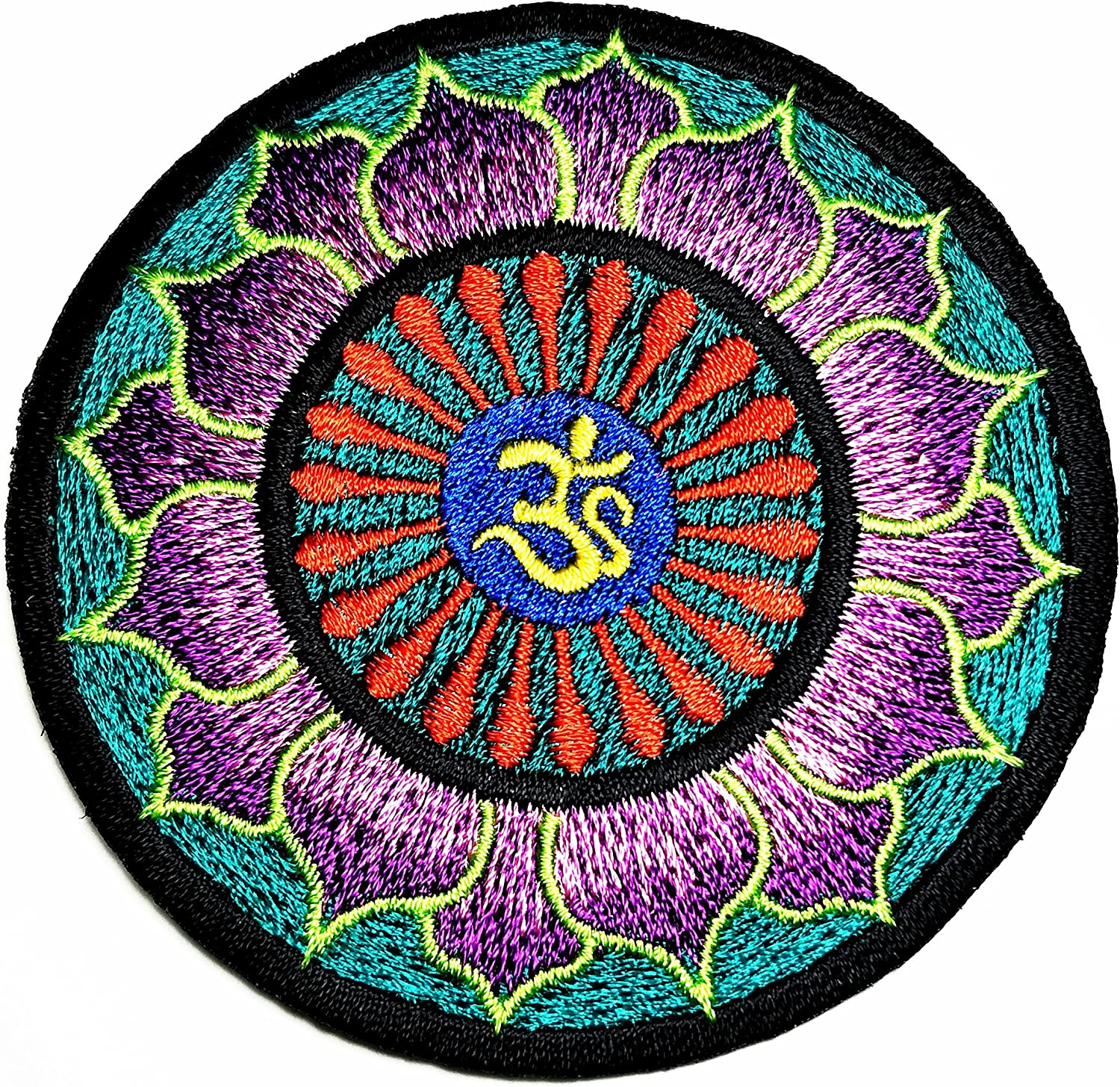 The Sun retro boho psychedelic hippie Embroidered Cloth Iron On Patch