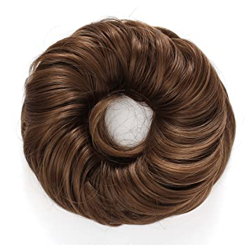 Amazon.com   OneDor Synthetic Curly Elastic Hair Band Hairpiece Scrunchie  Wig for Ponytail (12 -Light Brown)   Beauty 8b970d141