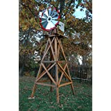 Outdoor Water Solutions BYW0136 10-Feet Wood Backyard Windmill
