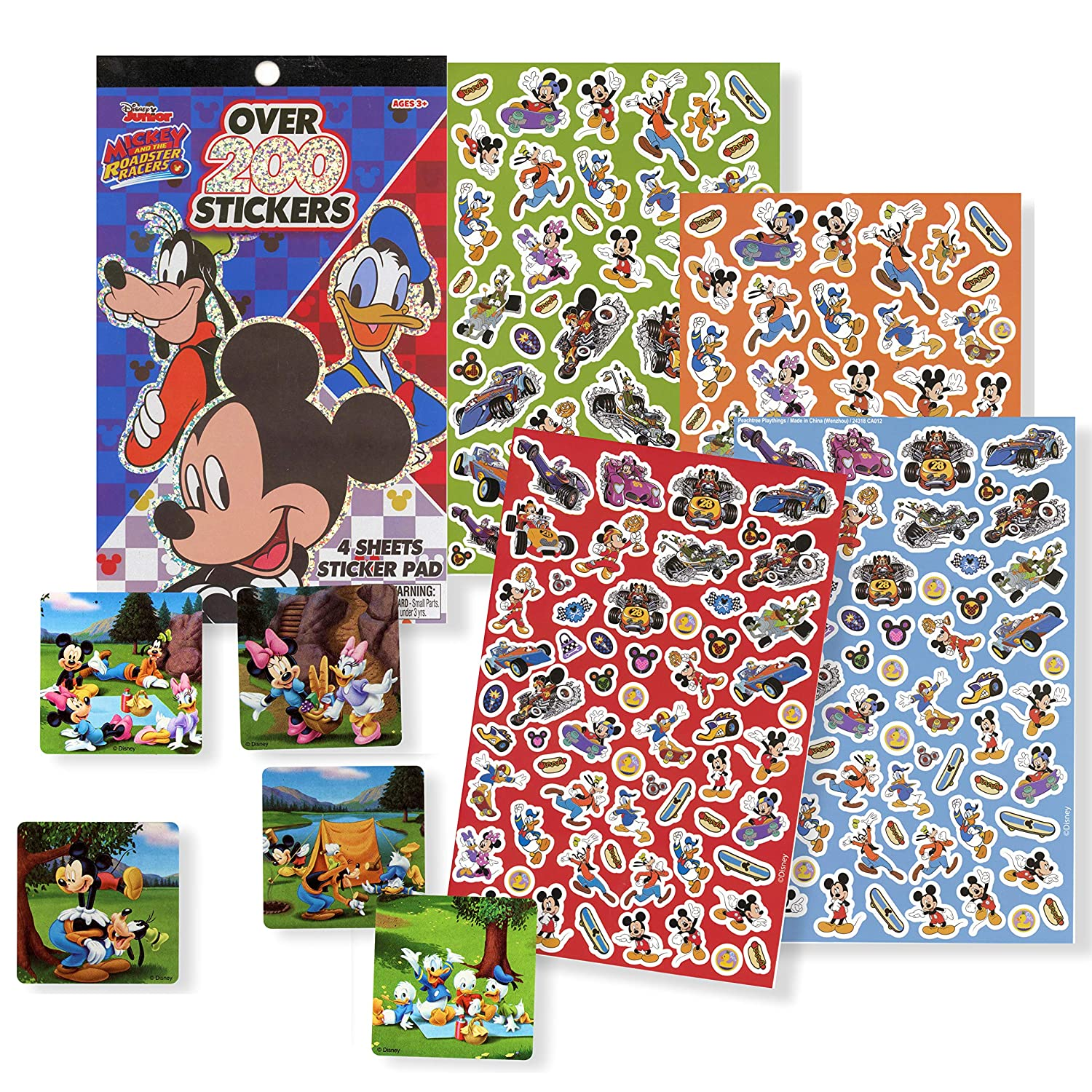 Giant 192 Page Coloring Book with Stickers Donald Duck Bundle Sealed in Gift Bag Disney Coloring Books for Kids with Stickers