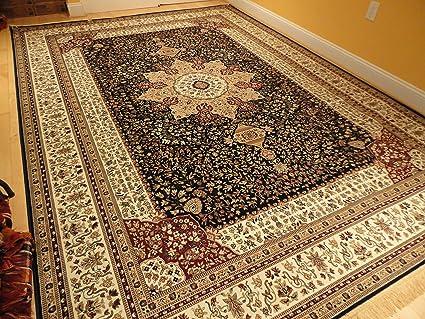 Luxury Navy Persian Rugs Large 7x10 Rug Living Room Rugs Dark Blue Navy 6x9  Area Rugs