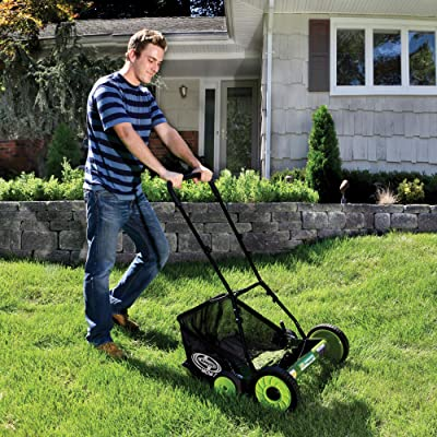 Sun Joe MJ502M Manual Reel Mower w/Grass Catcher | 20 inch