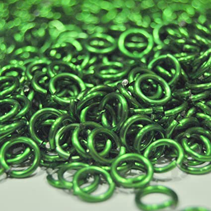 300 Saw Cut Chainmail Jump Rings 5//16 inch ID 14g AWG Anodized Red