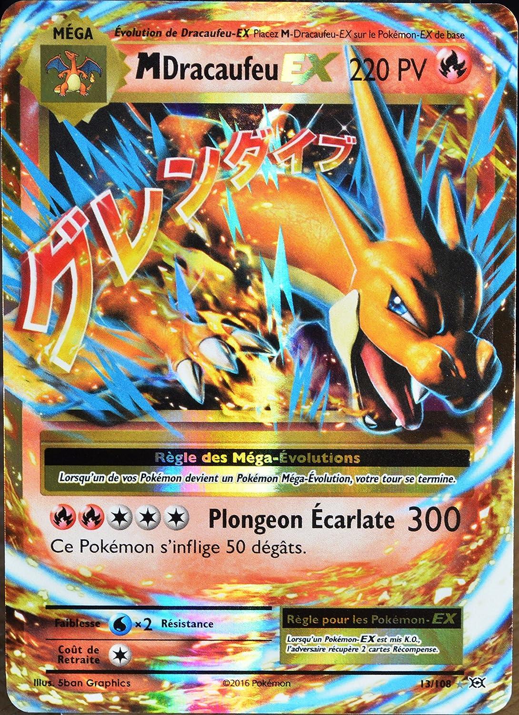 carte pokemon mega dracaufeu ex carte Pokémon 13/108 Méga Dracaufeu EX 220 PV: Amazon.fr: Jeux et
