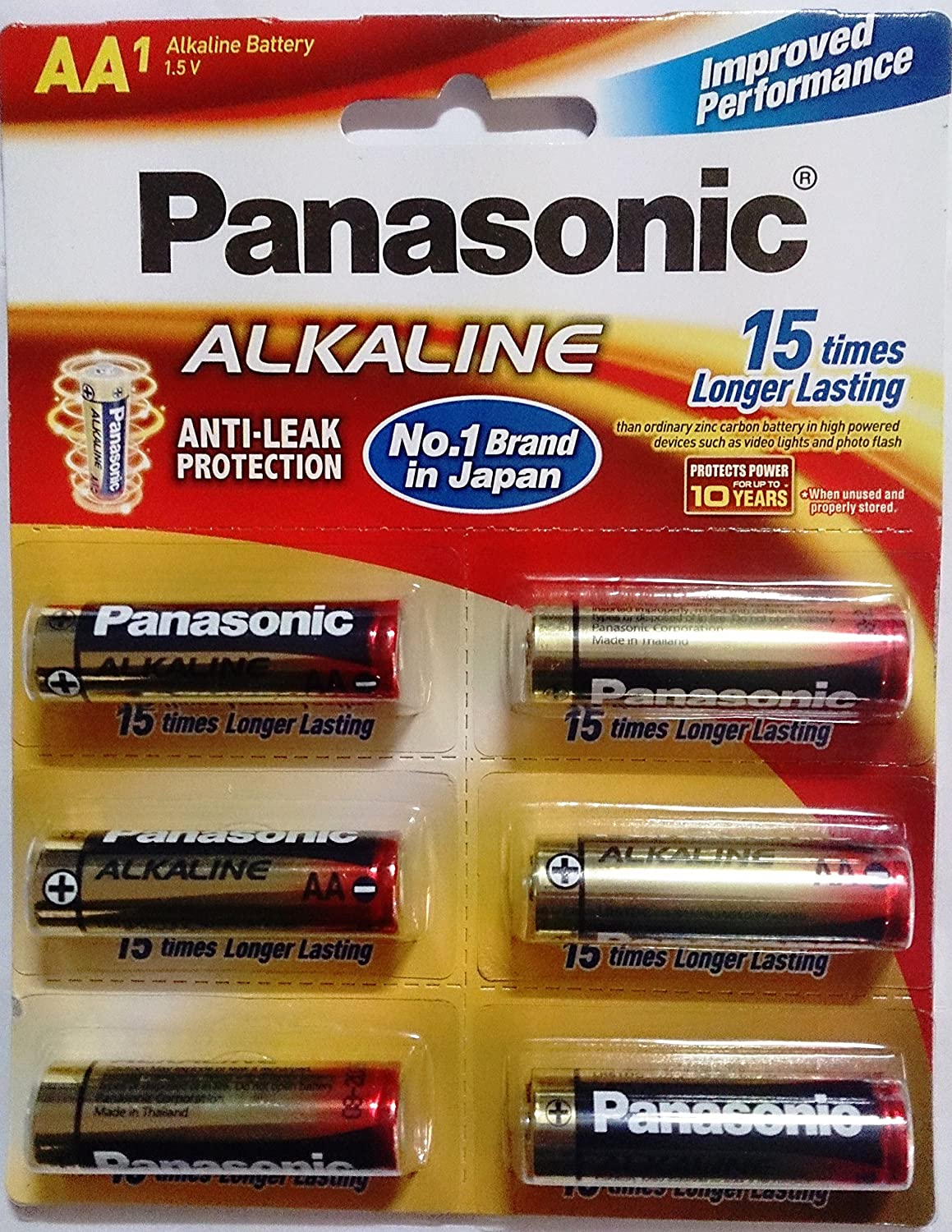 Panasonic Battery Alkaline AA 6Pcs 1B6 Battery