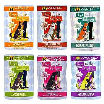 Weruva Dogs In The Kitchen Grain Free Wet Dog Food Variety Pack   6 Flavors