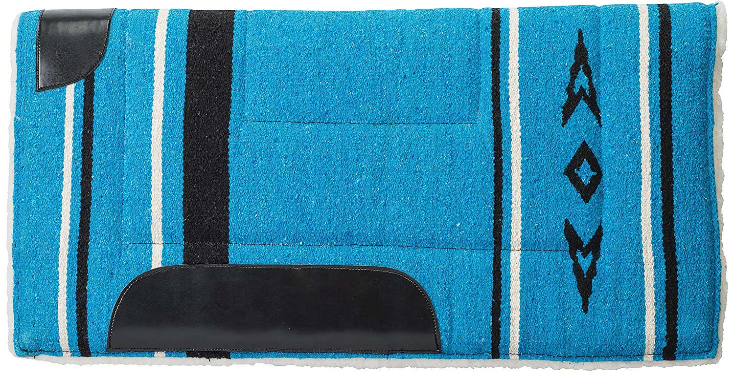 bluee Weaver Leather 35-1663-P5 Fleece Lined Acrylic Saddle Pad