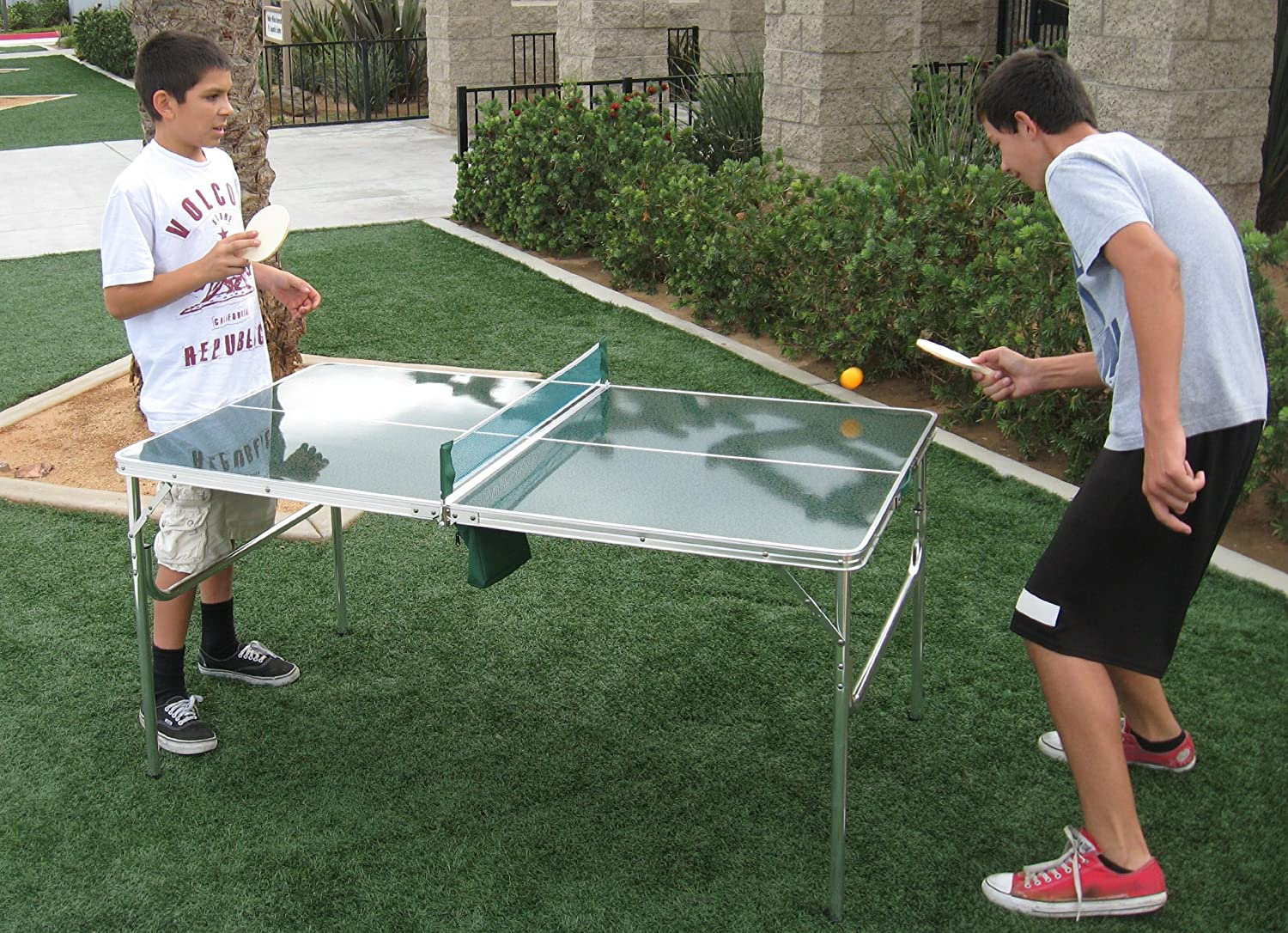 Amazon.com : Unique Oasis Mini Cool Ping Pong Table 5 Years Warranty High  Quality Product Lightweight And Portable : Sports U0026 Outdoors