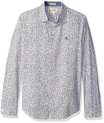 4c46de6f Original Penguin Men's Long Sleeve Floral Printed Shirt, Mysterioso, Medium