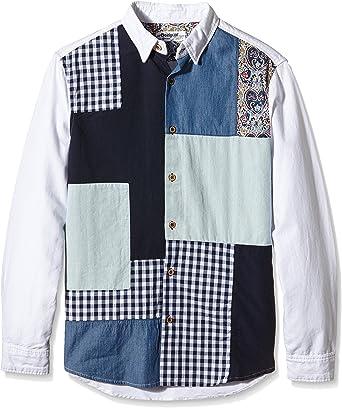 Desigual Victor Camisa, Blanco (Blanco 1000), Small para ...