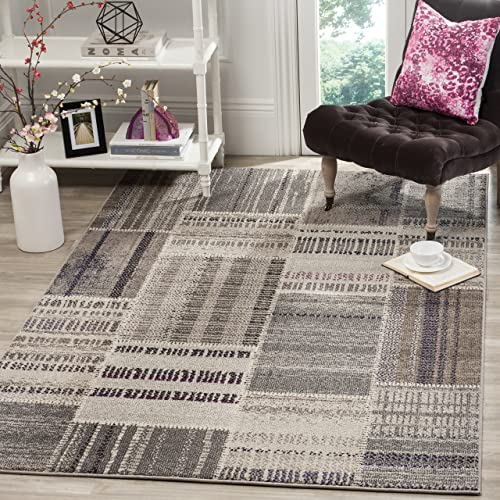 Safavieh Monaco Collection MNC215G Modern Patchwork Distressed Non-Shedding Stain Resistant Living Room Bedroom Area Rug
