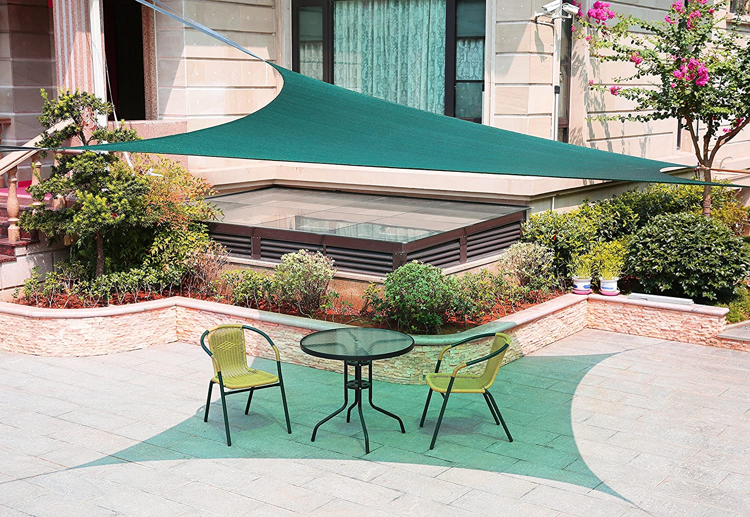 LyShade 13 x 9 10 Rectangle Sun Shade Sail Canopy with Stainless Steel Hardware Kit – UV Block for Patio and Outdoor Blue