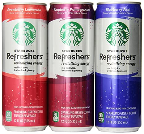 Starbucks Refreshers Variety Pack 12 Ounce Slim Cans 12