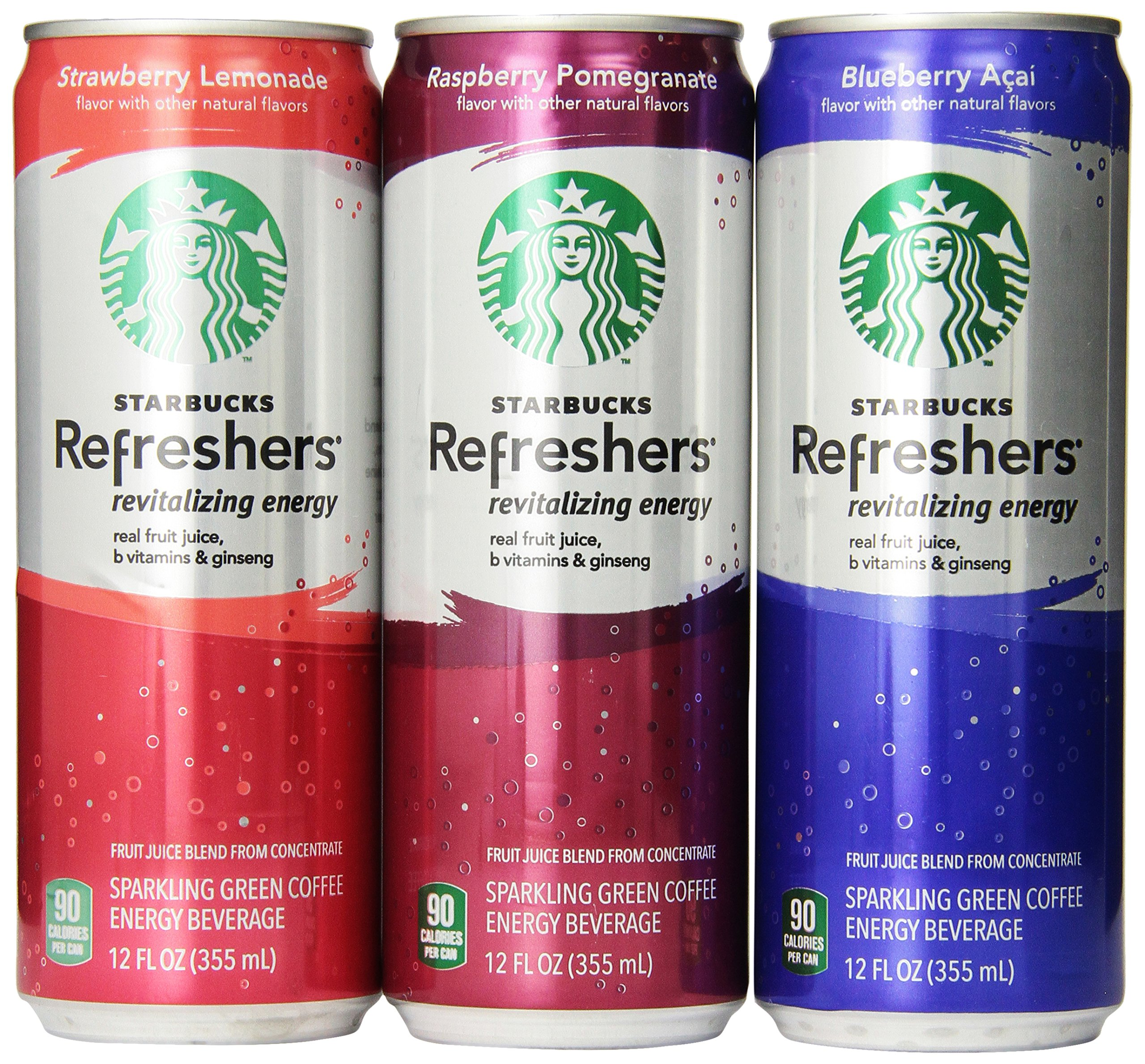 Starbucks Refreshers, 3 Flavor Variety Pack, 12 Ounce Slim Cans, 12 Pack by Starbucks (Image #7)