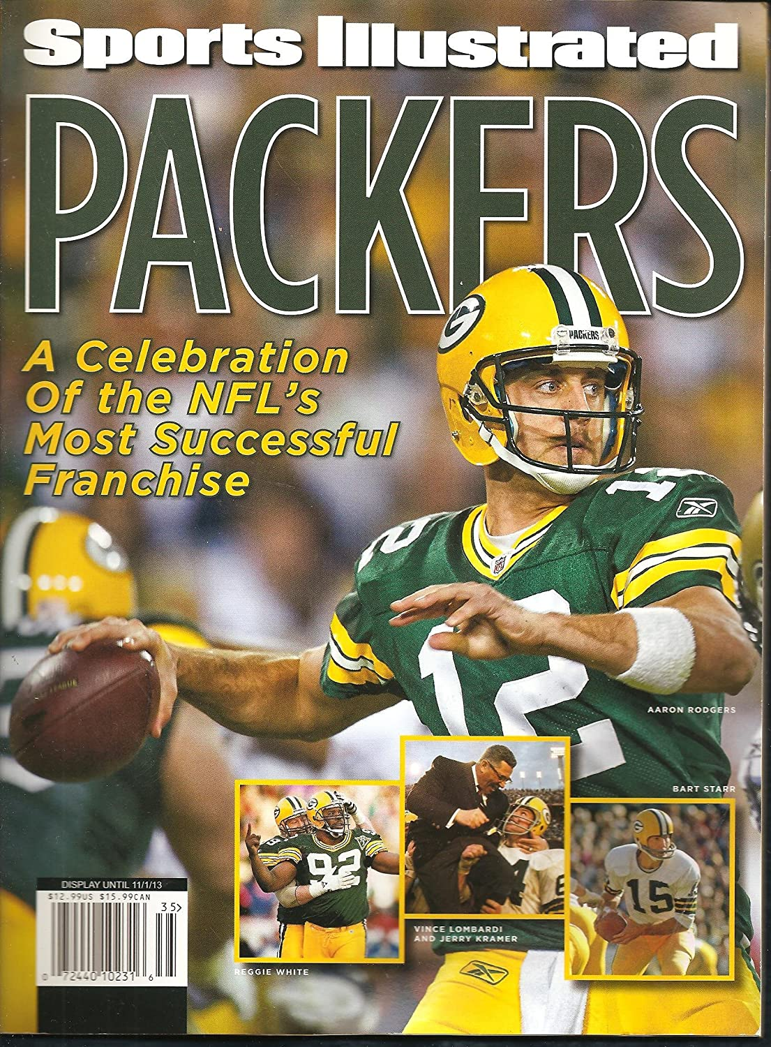 Packers a Celebration of the Nfl's Most Successful Franchise Commemorative Issue Rodgers Starr Favre Kramer Lombardi on Cover SPORTS ILLUSTRATED New, Mint! 2013