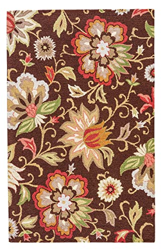 Jaipur Living Zamora Hand-Tufted Floral Leaves Brown Area Rug 5 X 8