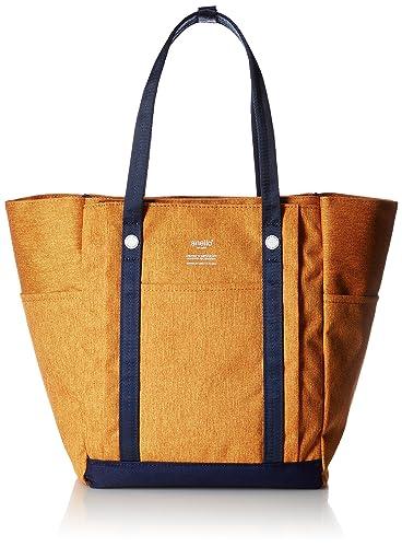 9d8bfabd883925 Amazon   [アネロ] トートバッグ アンティーク杢調ポリエステル 10ポケットトートバッグ AT-C2247 オレンジ   トートバッグ
