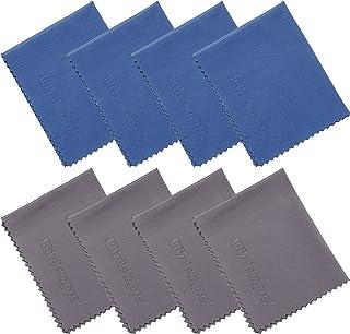 4er-Pack Mikrofaser-Reinigungstuch für Kamera, Objektiv, Glas, Handy, iPhone, iPad, Tablet, Laptop, LCD-TV, Bildschirm und andere empfindliche Oberflächen (1 x Schwarz + 1 x Blau 30,48 x 20,96cm, 1 x Schwarz + 1 x Blau 34,29 x 22,03cm