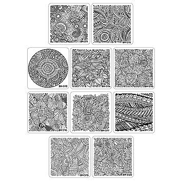 Amazon Bundle Monster 10pc Nail Art Polish Stamping Plates