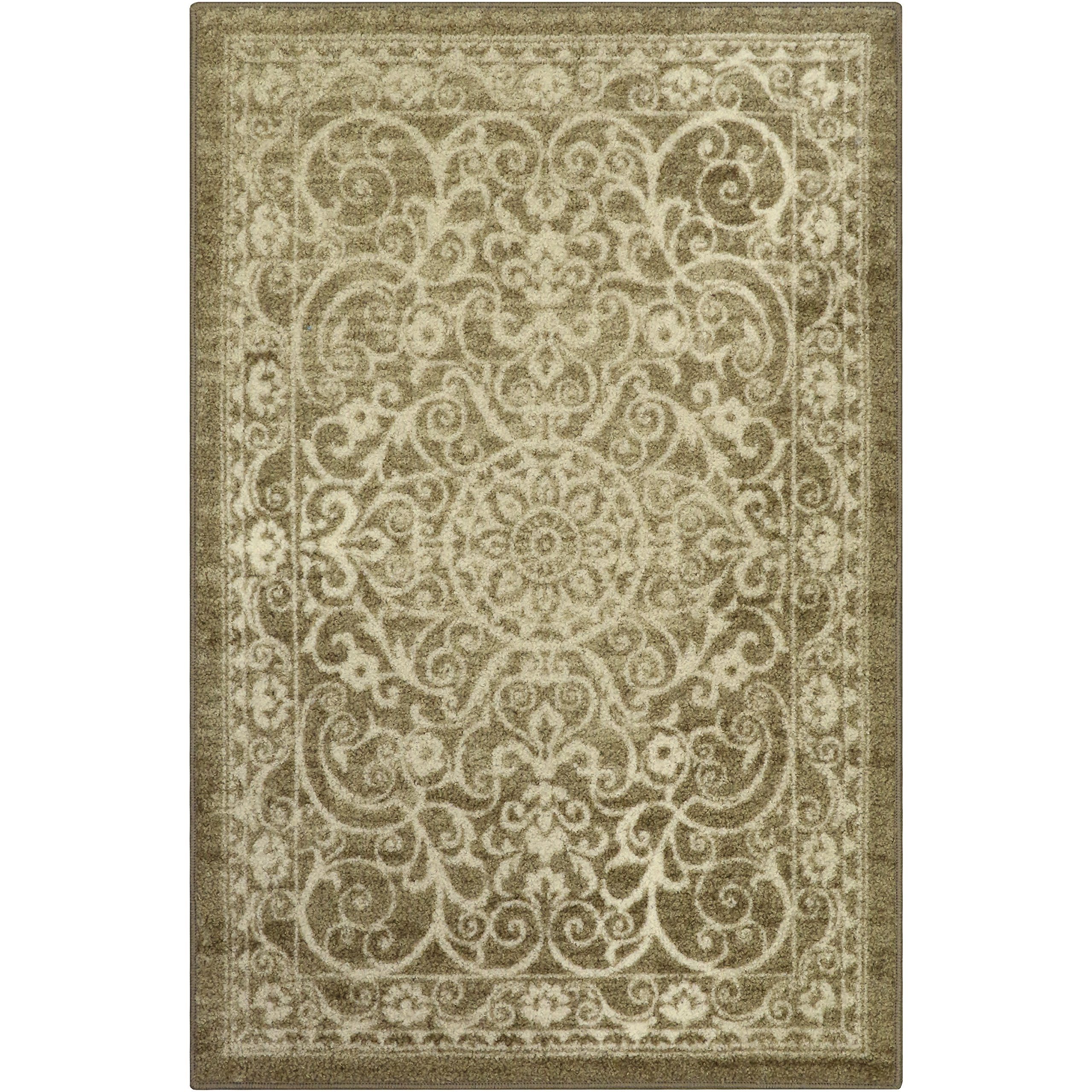 Maples Rugs Area Rugs, [Made in USA][Pelham] 7' x 10' Non Slip Padded Large Rug for Living Room, Bedroom, and Dining Room - Khaki
