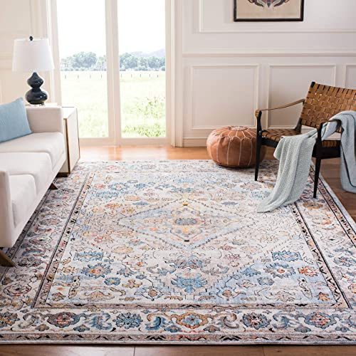 Safavieh BTL364A-8 Bristol Collection BTL364A Cream and Beige Area 8' x 10' Rug