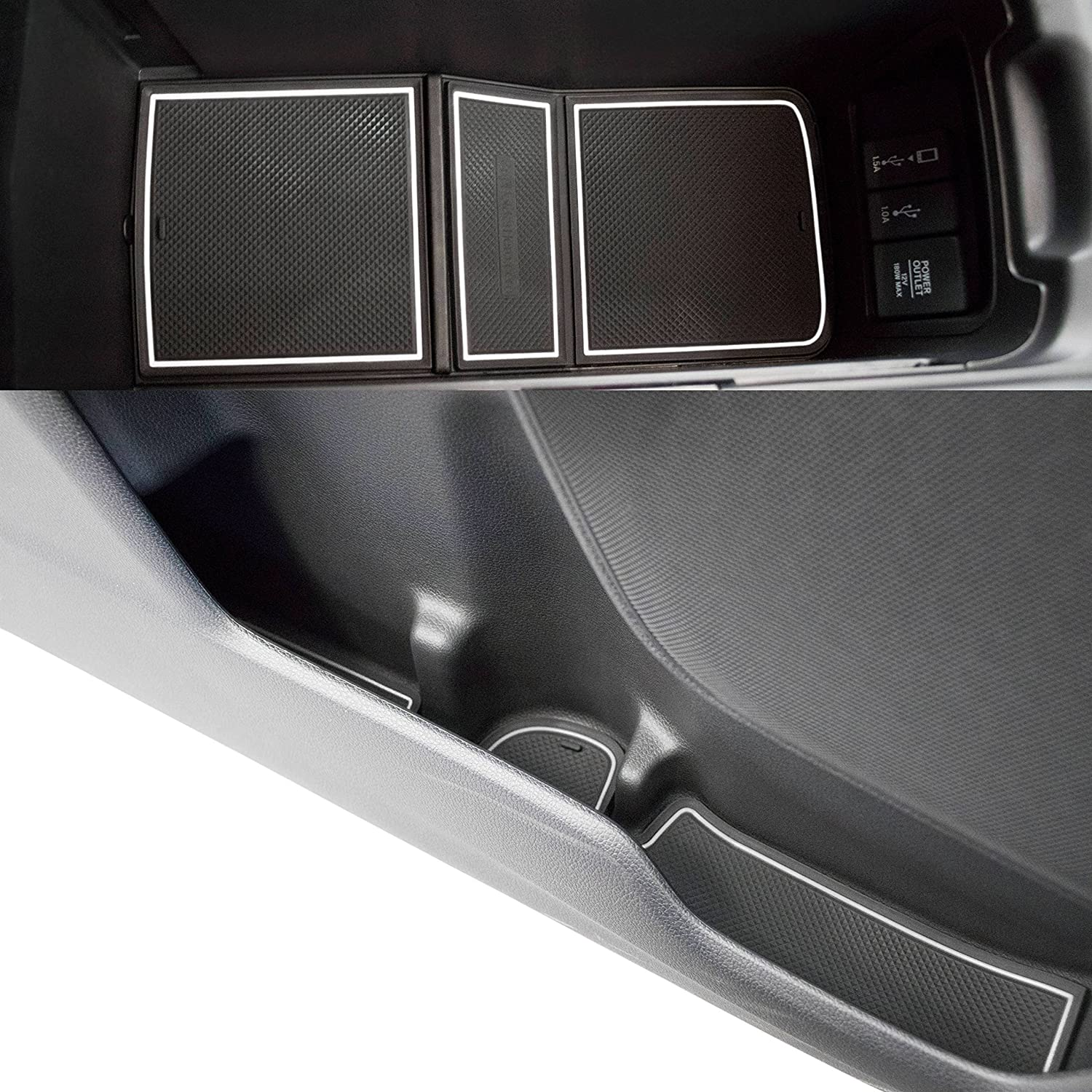 Dark Blue Trim Console Liner Accessories for 2019 2018 2017 Honda CR-V CRV Door Custom Fit Cup