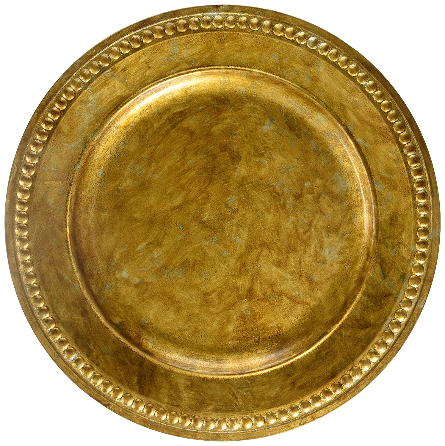ChargeIt by Jay Beaded Round Charger Plate, 14-Inch, Silver Jay Imports 1320376