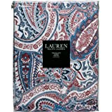Ralph Lauren Laveen Paisley Red Tablecloth, 60 By 104 Inch Oblong  Rectangular
