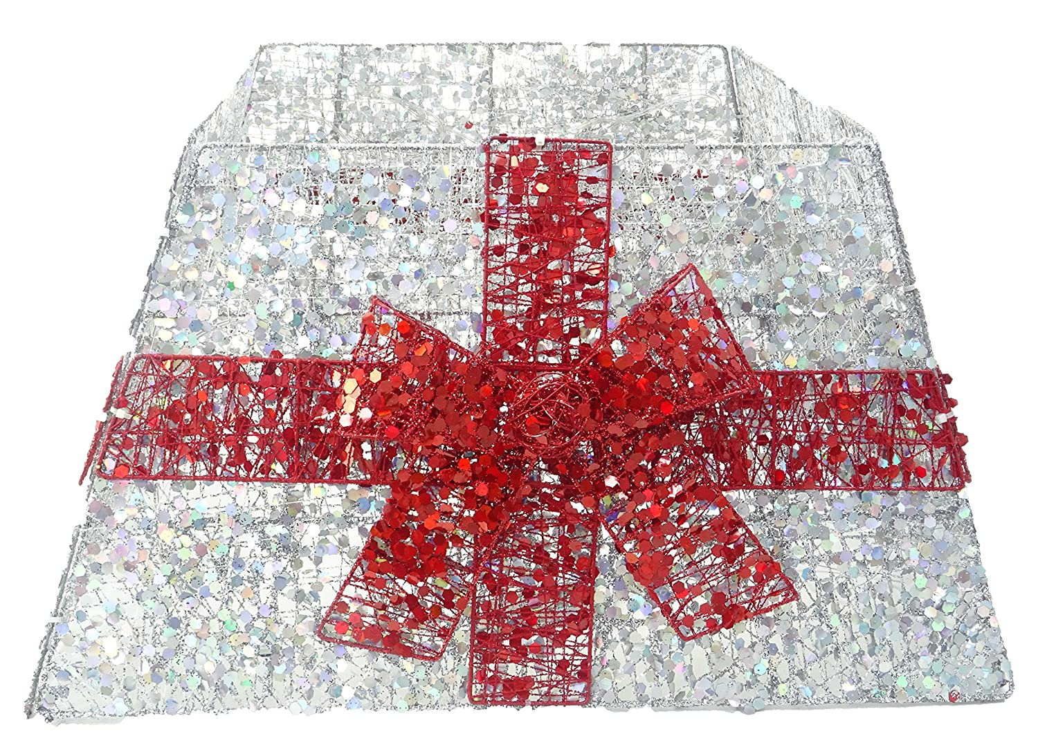 Christmas Tree Decorations Christmas Concepts/® Christmas Tree Base Skirt With Ribbon Various Colours Red // Silver
