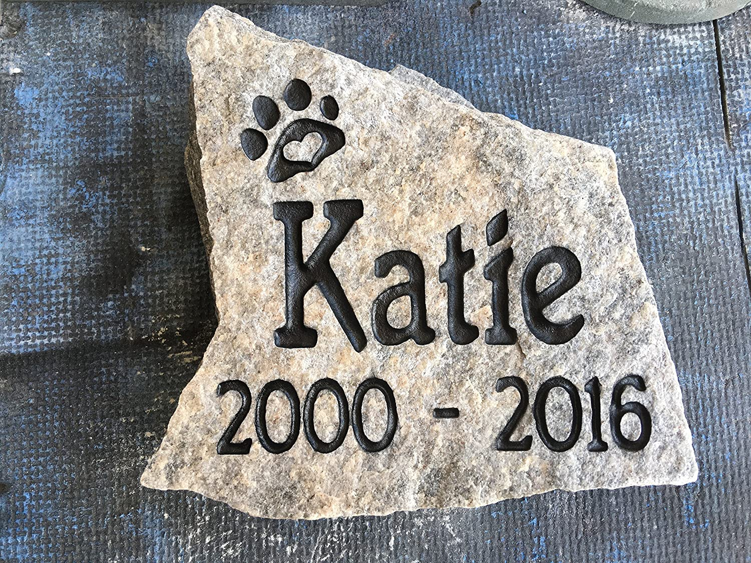 Natural Pet Memorial Stone, Personalized, (Small)