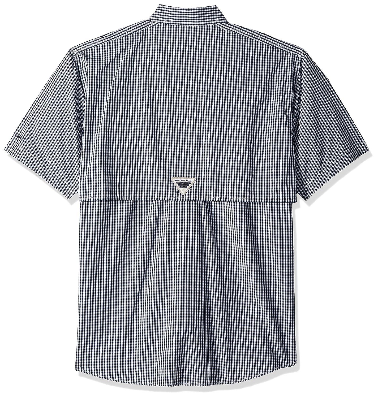 Collegiate Navy Gingham Columbia Mens Super Bonehead Classic Short Sleeve Shirt X-Small Columbia 1276381 Sporting Goods
