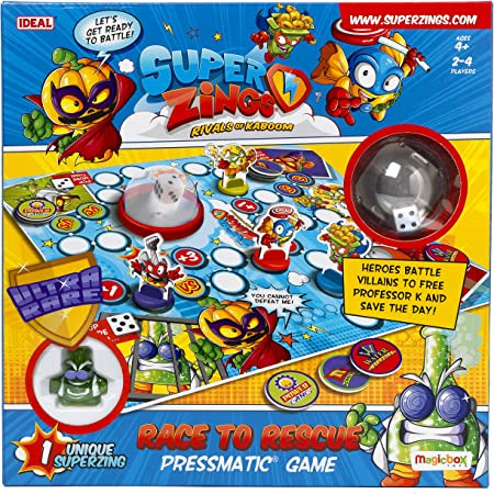 John Adams 10749 SuperZings Race to Rescue Pressmatic Game, Multi: Amazon.es: Juguetes y juegos