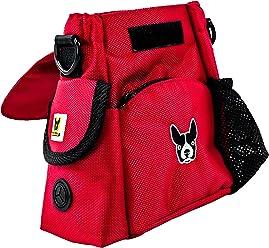Hundefreund Futtertasche | Kleine Handtasche für Leckerlis und Hundespielzeug | Futterbeutel für Damen