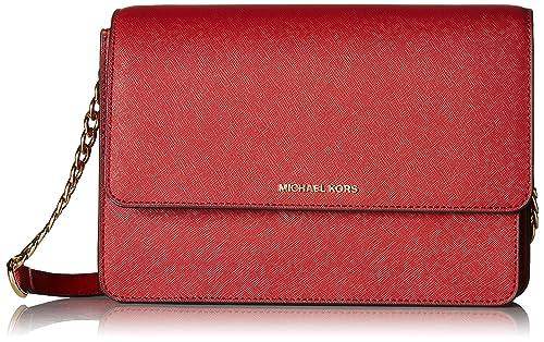 bed3ac4af566 Michael Kors Daniela Large Crossbody- Burnt Red: Amazon.ca: Shoes & Handbags