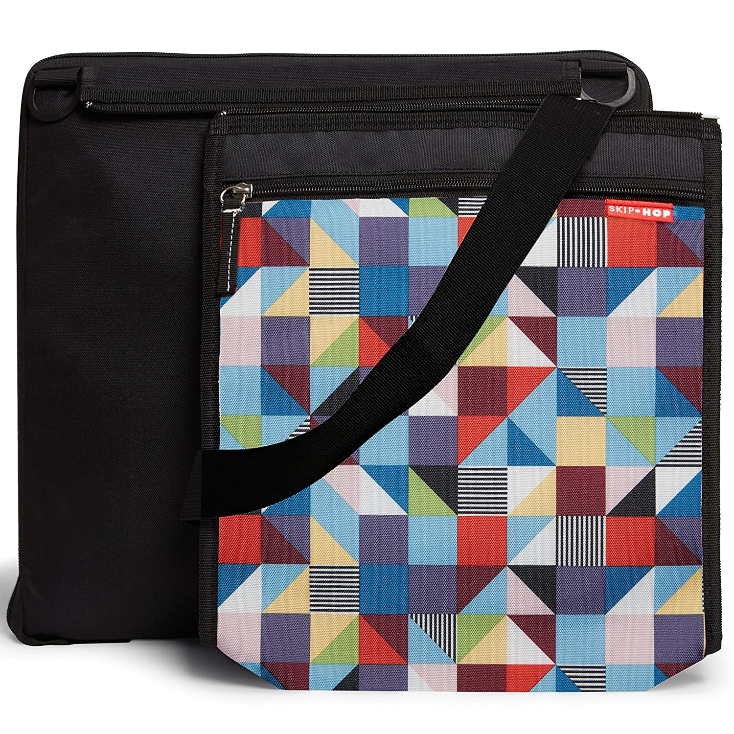 Skip Hop On-The-Go Central Park Outdoor Blanket and Cooler Bag, Prism 275008