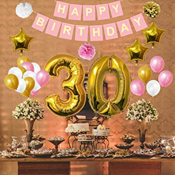 Amazon 40th Happy Birthday Party Balloons Supplies Impressive Belle Birthday Decorations